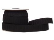 Conrad Jarvis Designer's Choice Elastic No Roll Reel Black 1x 15yd 15 Yards
