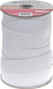 Stretchrite 3.8cm by 20-Yard White Ribbed Non-Roll Woven Polyester Elastic Spool