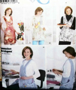 OOP Simplicity Crafts Pattern 5313. Misses S;M;L;XL Aprons in 4 Styles. Cooking, Cleaning, Gardening, Crafts; Etc