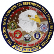 Fallen Heroes Patch Military Freedom Defender Iron on 30cm Patches Gifts Christmas Valentines Birthday Men Women Teens