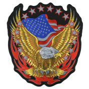 Hot Leathers Reflective Eagle Patch