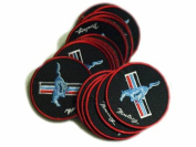 Ford Mustang Patches Logo Power Car Limited 5pcs Embroidered Patch SIZE :7.6cm