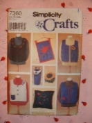 UNCUT & OOP SIMPLICITY CRAFTS 7360 by CINDY CAMBIER - MISSES' FELT VESTS & ACCESSORIES SEWING PATTERN SIZE