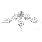 Rhinestone Transfer Hot Fix Motif Fashion Design Tattoos Decorate Circle Line a 3 Sheets 8.6*11cm
