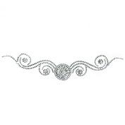 Rhinestone Transfer Hot Fix Motif Fashion Design Tattoos Decorate Circle Line B 3 Sheets 2.2*26cm