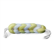 Braided Mesh Body Scubber 25cm Sponge with Rope Handles (Yellow and White) {Dozen}