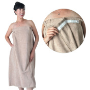 Coffee Brown Microfiber Spa Wrap w/ SNAP BUTTONS Enclosure, Large