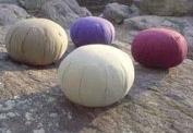 Meditation Cushion (Zafu), Inflatable, Burgundy;