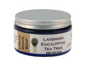 Lavender Tea Tree Eucalyptus All Natural Handmade Cream Shave Soap, 120ml