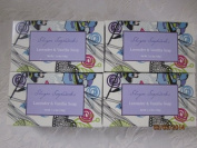 4 Bar Set Venezia Soapworks Pure Vegetable Soap Lavander & Vanilla 7. Oz Each Bar