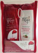 Maja Gift Set (Bath Gel 400ml & Body Lotion 400ml) With Free Loofah-Borla Y Estuche Regalo