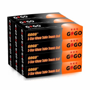 GOGO 3-Star Table Tennis Balls / Ping Pong Balls (12 Tubes 72pcs), Great for Training