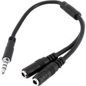 StarTech (MUYHSMFF) M/F 3.5mm 4 Position to 2x 3 Position 3.5mm Headset Splitter Adapter