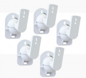 TechSol Essential TSS1-W - 5 Pack of White Universal Speaker Wall Mount Brackets