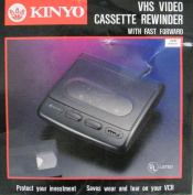 Kinyo VHS Video Cassette Rewinder VR-1601 With Fast Forward