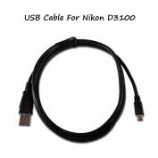 UC-E4 USB Cable For Nikon D3100 Camera, And USB Computer Cord For Nikon D3100.