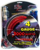 4 Gauge Car Audio Amplifier Installation & Wiring Kit Featuring 6.1m of Oversized Cable