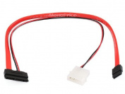 Monoprice 41cm Micro SATA to SATA Data and Power Combo Cable