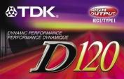TDK D120 Dynamic Audio Cassette Tapes - 10 Pack