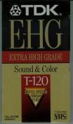 TDK E-HG Extra High Grade T-120 Video Cassette Tapes - Super Avilyn Technology PLUS