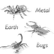Metal Earth Bugs Models Gift Set - Tarantula, Stag Beetle, Scorpion