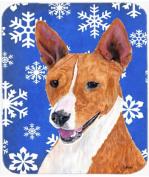 Basenji Winter Snowflakes Holiday Mouse Pad, Hot Pad or Trivet SC9387MP