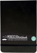 Monsieur Notebook Leather Journal - Landscape Black Sketch Medium