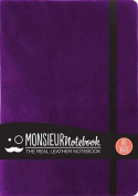 Monsieur Notebook Leather Journal - Purple Ruled Medium