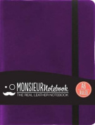 Monsieur Notebook Leather Journal - Purple Ruled Small