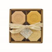 Simply Be Well Organics (Plant Based) Set of Four Honey Bar Soap Set
