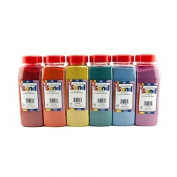 Hygloss Products Inc. Bucket O Sand 6 Asstd Colours 180ml
