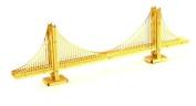 Metal Works 3d Laser Cut Models - San Francisco Golden Gate Bridge in Gold - Rare Earth Edition