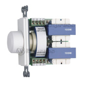 100W In Wall Stereo Speaker Volume Control with Impedance Matching (White-Ivory-Almond) by Cave Controls