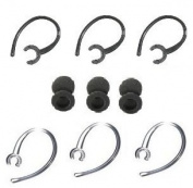 "12 Pc Lg Hbm255, 260, Lg HBM 280 Ear Hooks / Foam Buds Repair Set Compatible (3-black, 3-translucent Ear Hooks & 6 ""Foam"" Ear Buds) By Gadgetbrat®"
