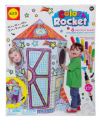 ALEX Toys - Craft, Colour a Rocket Children's Kit with (6) Washable Markers and Cardboard Rocket, 198R
