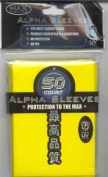 Max Protection Alpha Flat Yellow Sleeves Sized for YuGiOh [Toy]