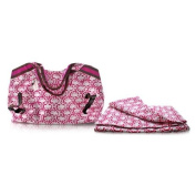 Model Co Paisley Beach Bag and Towel Pink and White