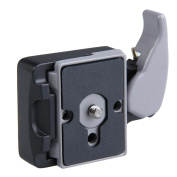 Vktech Black Camera 323 Quick Release Adapter with Manfrotto 200PL-14 Compat Plate