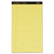 TOPS 63980 - Docket Gold Ruled Perforated Pad, Legal Rule/Size Canary, 50-Sheet Pads, Dozen-TOP63980