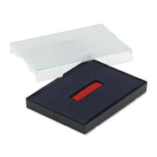Trodat T4727 Dater Replacement Pad, 1 5/8 x 2 1/2, Red/Blue