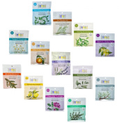 Aura Cacia 70ml Mineral Bath Packet, All 13 Flavours Variety Pack