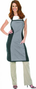 Betty Dain Hourglass Bleach Proof Apron, Black/Grey