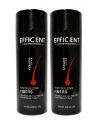 2 of EFFICIENT Keratin Hair Building Fibres, Hair Loss Concealer Net Wt. 28gm / 30ml