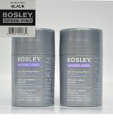 Bosley KerXtend Hair Thickening Fibres Keratin Hair Fibres .1240ml (Black) 2 Pack