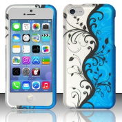 Windowcell for Iphone 5c - Rubberized Design Cover - Blue Vines