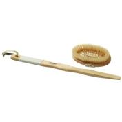 Long-Handled Rubber Grip Bath & Massage Brush