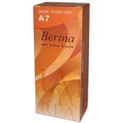 Berina Permanent Hair Dye (A 7) Golden Brown Colour Collection Thai 1Pack