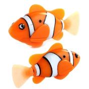 Sannysis2008 Electric Toy Pet Fish with Aquatic Gift for Kids Orange Novel Robo Fish