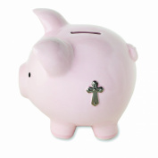 Nat and Jules Piggy Bank with Cross