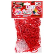 D.I.Y. Do it Yourself Bracelet Zupa Loomi Bandz 600 Fruity Tooty Red Strawberry Scented Rubber Bands with 'S' Clips